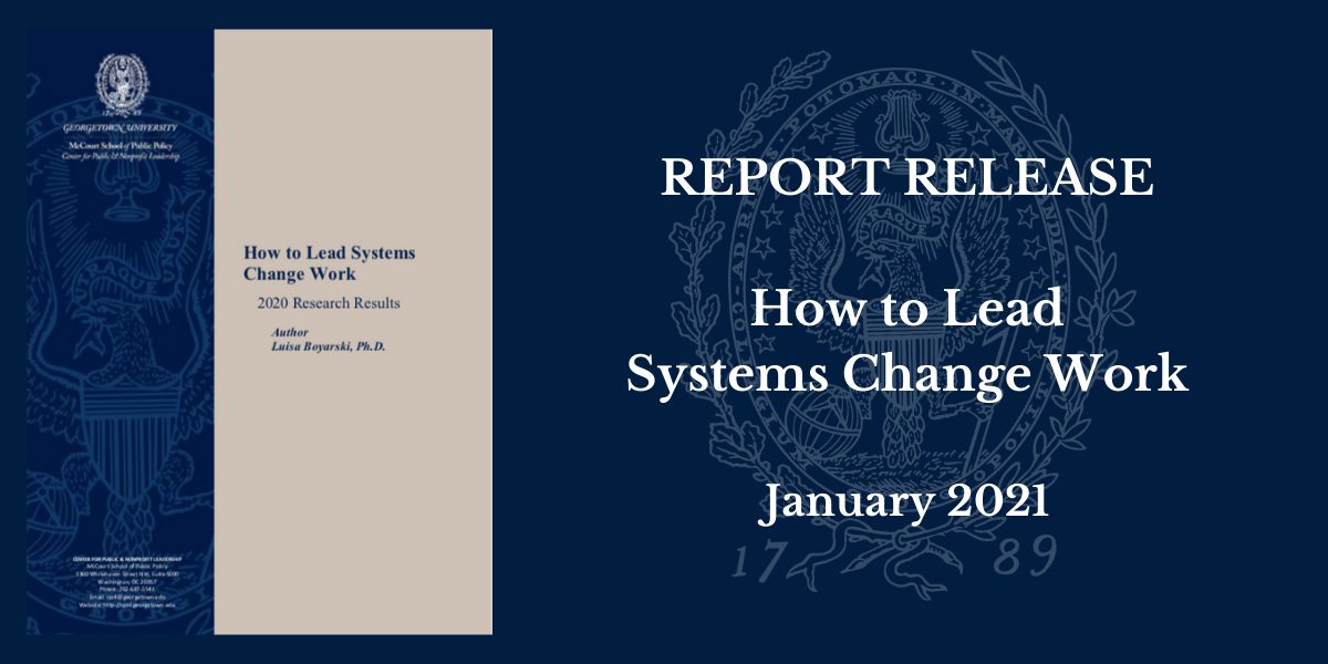 How to Lead Systems Change - Canva Banner
