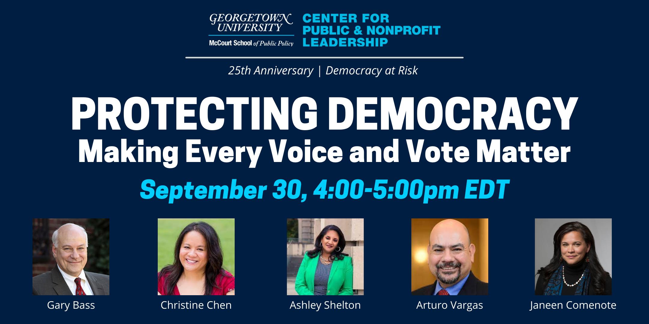 Protecting Democracy Eventbrite image